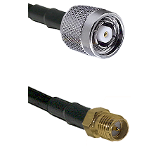 TNC Reverse Polarity Male on LMR100 to SMA Reverse Polarity Female Cable Assembly