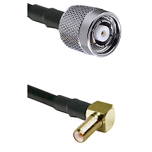 TNC Reverse Polarity Male on LMR100 to SLB Right Angle Male Cable Assembly