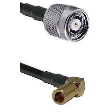TNC Reverse Polarity Male on LMR100 to SSMB Right Angle Female Cable Assembly