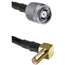 TNC Reverse Polarity Male on LMR100 to SSMB Right Angle Male Cable Assembly