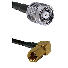 TNC Reverse Polarity Male on LMR100 to SSMC Right Angle Female Cable Assembly