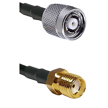 TNC Reverse Polarity Male on LMR100 to SMA Reverse Thread Female Cable Assembly