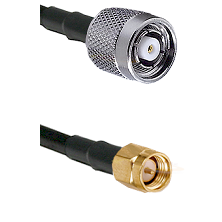 TNC Reverse Polarity Male on LMR100 to SMA Reverse Thread Male Cable Assembly