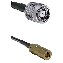 TNC Reverse Polarity Male on LMR100 to SLB Female Cable Assembly