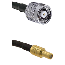 TNC Reverse Polarity Male on LMR100 to SLB Male Cable Assembly