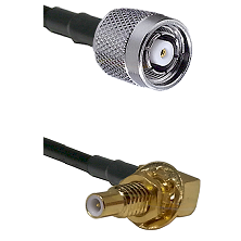 TNC Reverse Polarity Male on LMR100 to SLB Male Bulkhead Cable Assembly