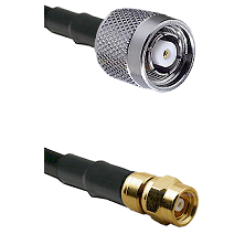 TNC Reverse Polarity Male on LMR100 to SMC Female Cable Assembly