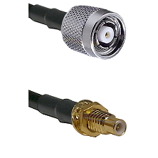 TNC Reverse Polarity Male on LMR100 to SMC Male Bulkhead Cable Assembly