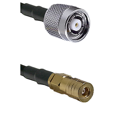 TNC Reverse Polarity Male on LMR100 to SSLB Female Cable Assembly