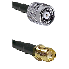 TNC Reverse Polarity Male on LMR100 to SSMA Female Cable Assembly