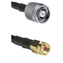 TNC Reverse Polarity Male on LMR100 to SSMA Male Cable Assembly