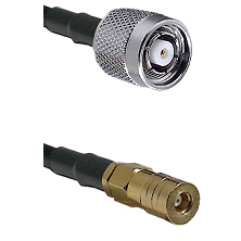 TNC Reverse Polarity Male on LMR100 to SSMB Female Cable Assembly