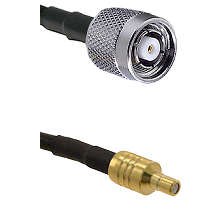 TNC Reverse Polarity Male on LMR100 to SSMB Male Cable Assembly