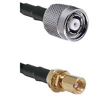 TNC Reverse Polarity Male on LMR100 to SSMC Female Bulkhead Cable Assembly