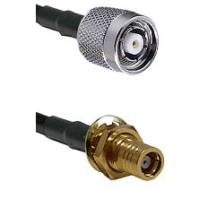 Reverse Polarity TNC Male To SMB Female Bulk Head Connectors LMR-195-UF UltraFlex Custom Coax