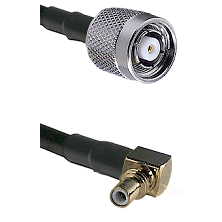 TNC Reverse Polarity Male on LMR200 to SSMC Right Angle Male Cable Assembly