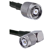 Reverse Polarity TNC Male To Right Angle TNC Male Connectors LMR240UF Ultra Flex Custom Coaxia