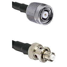 TNC Reverse Polarity Male Connector On LMR-240UF UltraFlex To SHV Plug Connector Coaxial Cable Assem