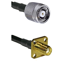 TNC Reverse Polarity Male Connector On LMR-240UF UltraFlex To SMA 4 Hole Female Connector Coaxial Ca