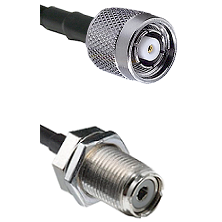Reverse Polarity TNC Male To UHF Bulk Head Female Connectors LMR240UF Ultra Flex Custom Coaxia