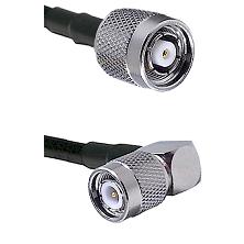 Reverse Polarity TNC Male On LMR400UF To Right Angle TNC Male Connectors Ultra Flex Coaxi