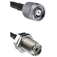 Reverse Polarity TNC Male On LMR400UF To UHF Bulk Head Female Connectors Ultra Flex Coaxi