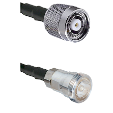 TNC Reverse Polarity Male on RG142 to 7/16 Din Female Cable Assembly