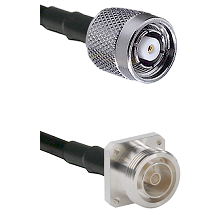 TNC Reverse Polarity Male on RG142 to 7/16 4 Hole Female Cable Assembly