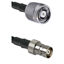 TNC Reverse Polarity Male on RG142 to C Female Cable Assembly