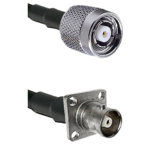TNC Reverse Polarity Male on RG142 to C 4 Hole Female Cable Assembly