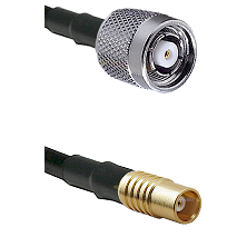TNC Reverse Polarity Male on RG142 to MCX Female Cable Assembly
