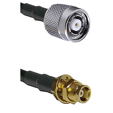 TNC Reverse Polarity Male on RG142 to MCX Female Bulkhead Cable Assembly