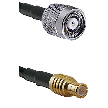 TNC Reverse Polarity Male on RG142 to MCX Male Cable Assembly