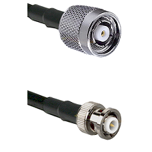 TNC Reverse Polarity Male on RG142 to MHV Male Cable Assembly