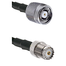 TNC Reverse Polarity Male on RG142 to Mini-UHF Female Cable Assembly