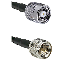 TNC Reverse Polarity Male on RG142 to Mini-UHF Male Cable Assembly