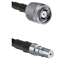 TNC Reverse Polarity Male on RG400 to QMA Female Cable Assembly