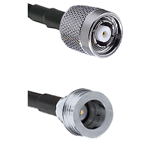 TNC Reverse Polarity Male on RG400 to QN Male Cable Assembly