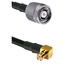 Reverse Polarity TNC Male On RG400 To Right Angle MCX Male Connectors Coaxial Cable
