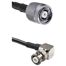 TNC Reverse Polarity Male on RG400 to MHV Right Angle Male Cable Assembly
