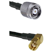TNC Reverse Polarity Male on RG400 to SMA Reverse Polarity Right Angle Male Cable Assembly