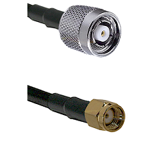 TNC Reverse Polarity Male on RG400 to SMA Reverse Polarity Male Cable Assembly