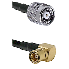 TNC Reverse Polarity Male on RG400 to SMB Right Angle Female Cable Assembly