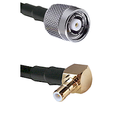 Reverse Polarity TNC Male On RG400 To Right Angle SMB Male Connectors Coaxial Cable