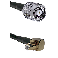 TNC Reverse Polarity Male on RG400 to SMC Right Angle Male Cable Assembly