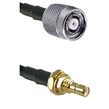 TNC Reverse Polarity Male on RG400 to SMB Male Bulkhead Cable Assembly