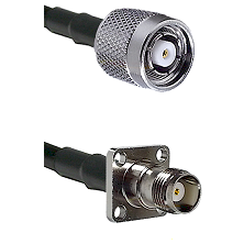 TNC Reverse Polarity Male on RG400 to TNC 4 Hole Female Cable Assembly
