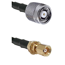 TNC Reverse Polarity Male on RG58C/U to SMC Female Bulkhead Cable Assembly
