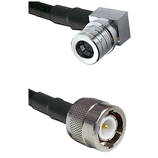 QMA Right Angle Male on LMR100 to C Male Cable Assembly