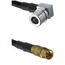 QMA Right Angle Male on LMR100 to MMCX Female Cable Assembly